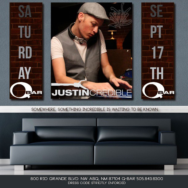 justin_credible_q_bar_flyer